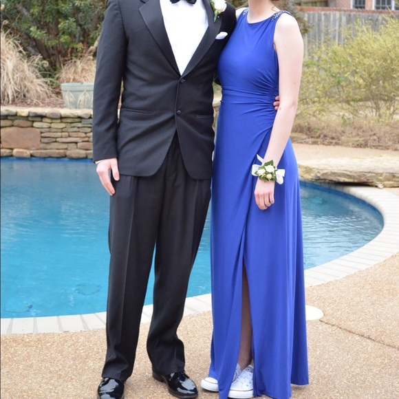 Cache Dresses & Skirts - Long Navy Prom Dress